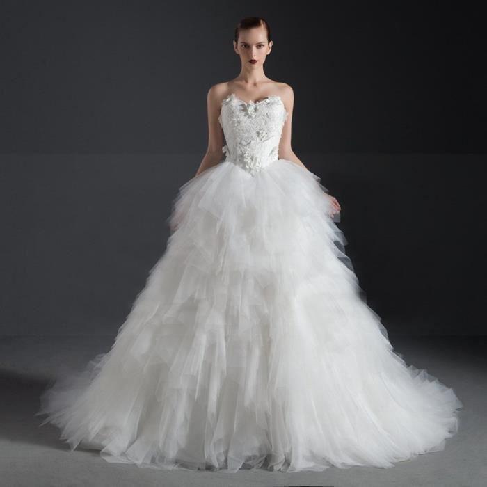 Nouveauté Robe de mariée mariage longue traî