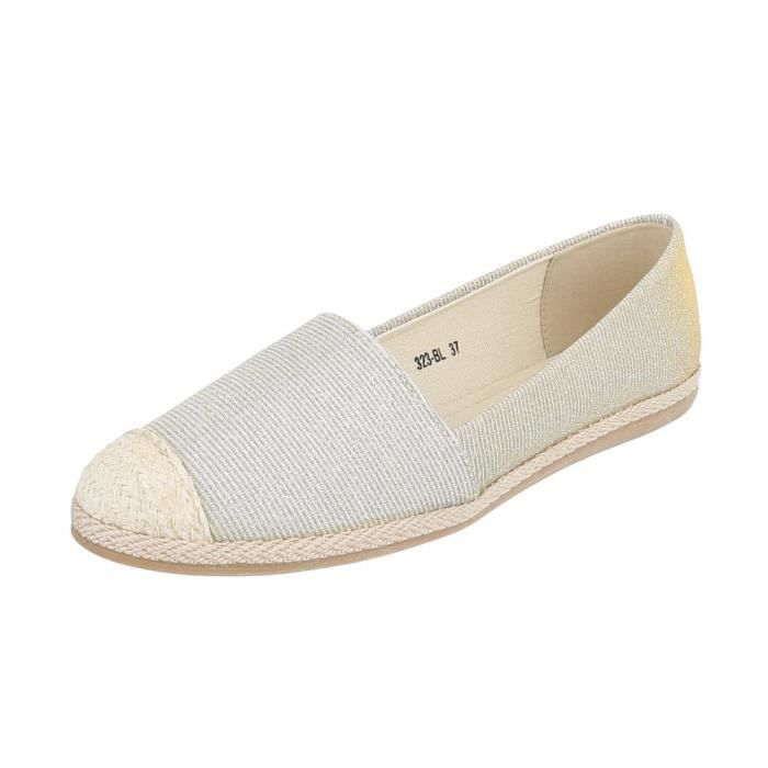 Chaussures femme flâneurs Espadrilles mocassin or 41 mSdpDiD0Tv