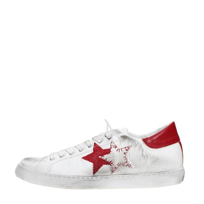2 Star Sneakers Homme WHITE/RED, 42