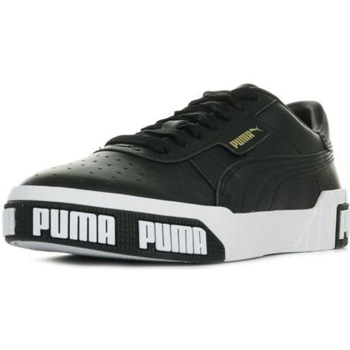 basket puma cali blanc noir