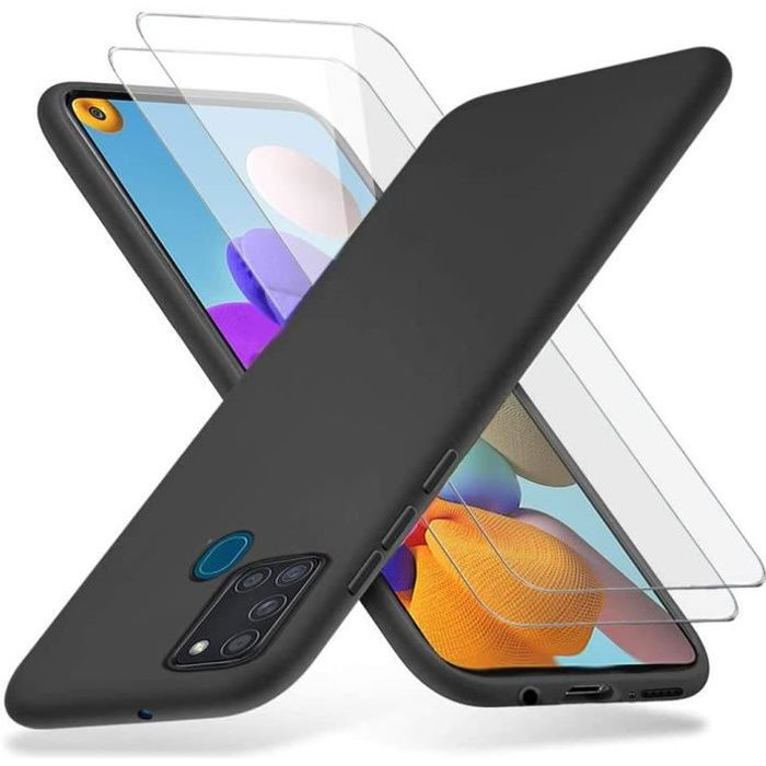 pour Samsung Galaxy A21S Ferilinso Coque pour Samsung Galaxy A21S avec 2 Pi/èces Verre Tremp/é /étui Transparent pour Samsung Galaxy A21S Protection /écran
