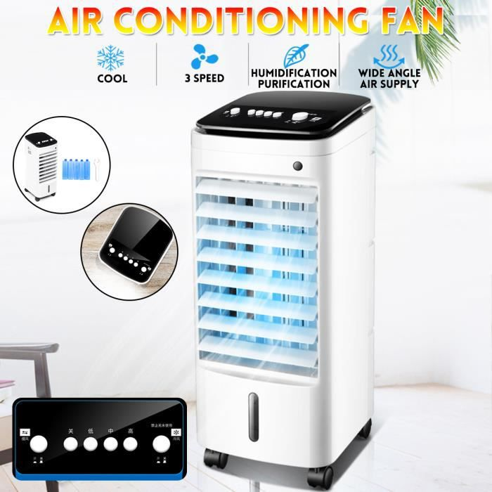 Humidifier le ventilateur du climatiseur Ventilateur de Climatisation Mobile bleu Refroidisseur dair Ventilateur de refroidisseur dair avec Ice Crystal Box 220V Refroidisseur de climatiseur