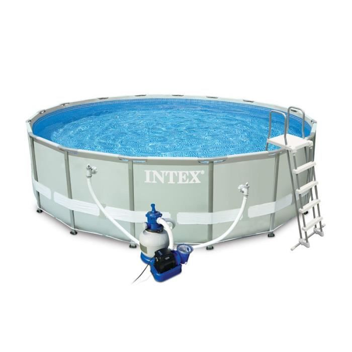 Paris prix piscine hors sol tubulaire ultra blanc for Piscine ronde intex