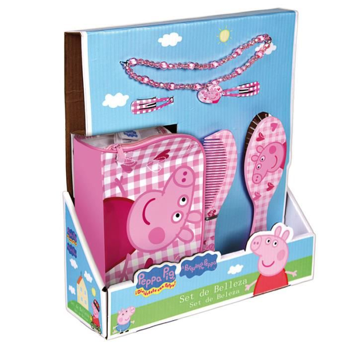 peppa pig coffret cadeau beaut chic achat vente kit produit capillaire peppa pig. Black Bedroom Furniture Sets. Home Design Ideas