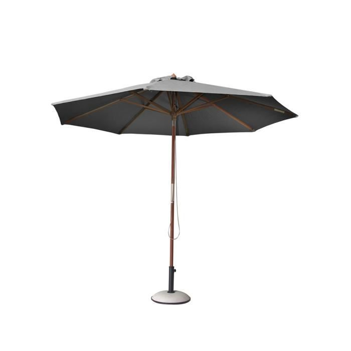 parasol en bois biarritz gris achat vente parasol parasol en bois biarritz gris cdiscount. Black Bedroom Furniture Sets. Home Design Ideas