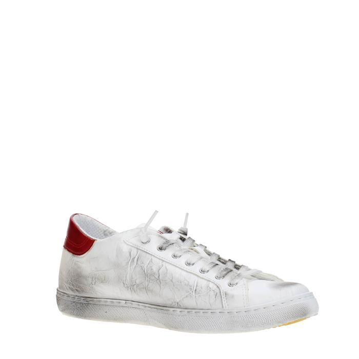 Star 42 Star RED Homme Sneakers 2 Homme Sneakers WHITE WHITE RED 42 2 qn07R