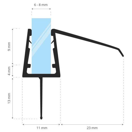 STEIGNER 70cm Joint d/étanch/éit/é de remplacement pour les vitres d/'une /épaisseur 6mm// 7mm// 8mm UK08