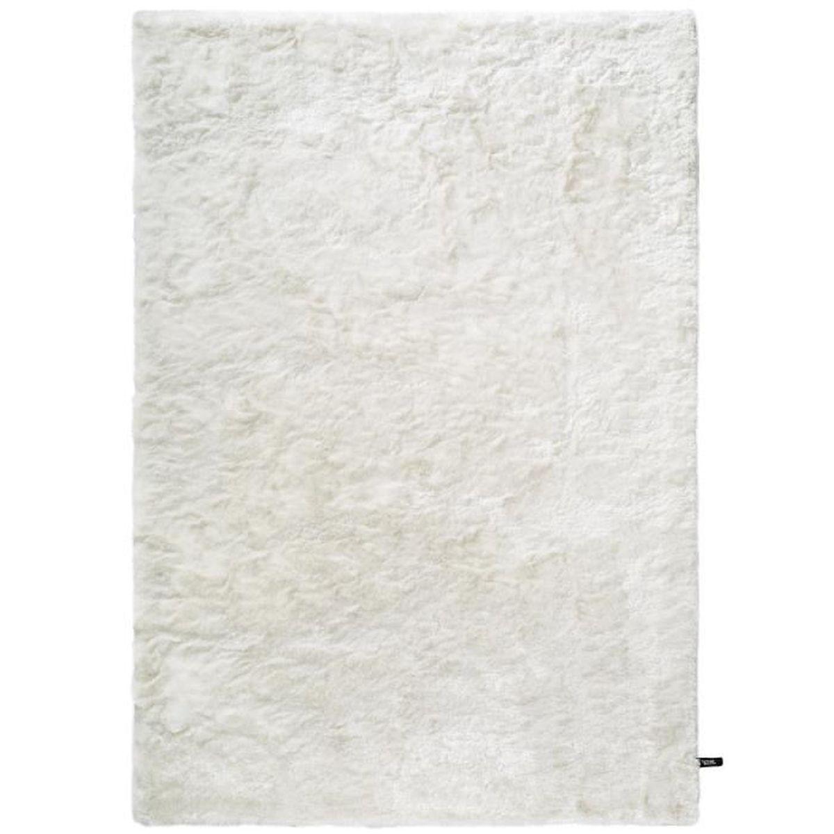 Tapis Long Poil Blanc tapis shaggy à poils longs whisper blanc 200x290 cm - tapis