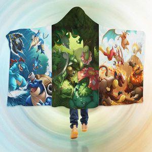 COUVERTURE - PLAID 3D Hooded Blanket for Pokemon 8238  Couverture à C