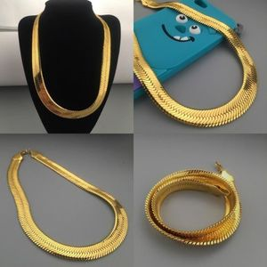 CHAINE DE COU SEULE déclaration bijoux en or jaune 18 carats collier p