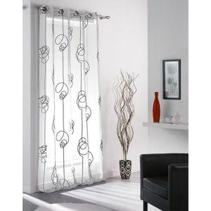 VOILAGE Panneau rideau voile à œillet - 140 x 240 cm