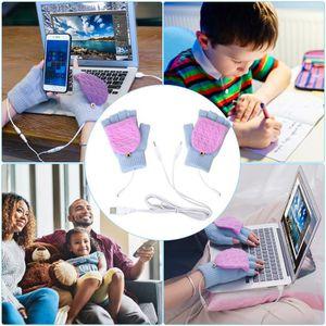gants chauffants pour les mains enti/ères et demi-mains gants tricot/és pour homme et femme DaMohony Gants chauffants USB