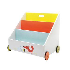 ÉTAGÈRE - BIBLIOTHÈQUE Labebe-Coffre à  jouets bibliothèque en bois avec