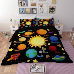 HOUSSE DE COUETTE SEULE Parure de lit Système solaire planètes Mercure Vén