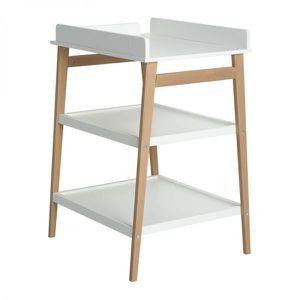 TABLE À LANGER Table à langer Quax Hip Blanc/Naturel