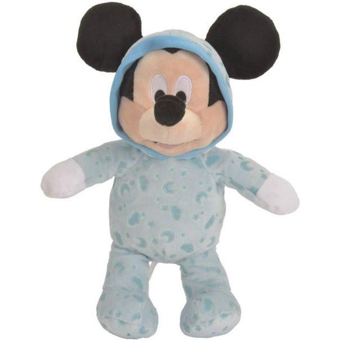 DISNEY Mickey Mouse Peluche Bleu 25cm