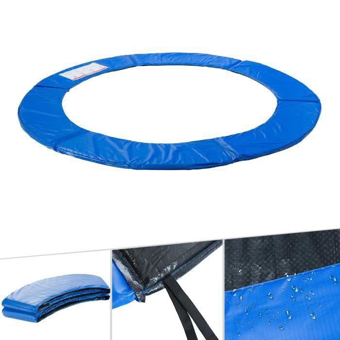 AREBOS Coussin de Protection des Ressorts Pour Trampoline 396 cm Bleu