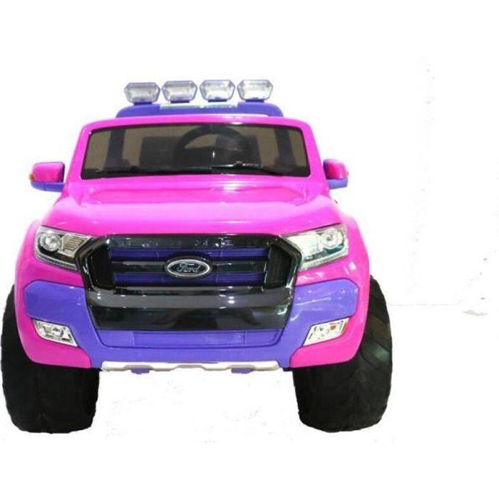 Ford Ranger 4x4 MP4 LUXURY Rose - Voiture électrique pour enfant avec batterie 12v et télécommande