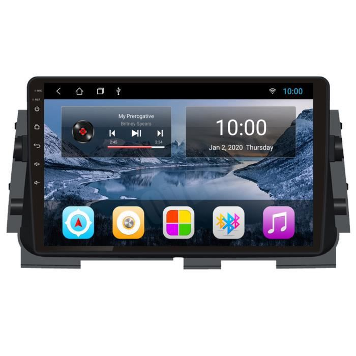 RoverOne Autoradio GPS Bluetooth pour Nissan Kicks Micra 2014 2015 2016 2017 Android Stéréo Navigation WiFi Écran Tactile