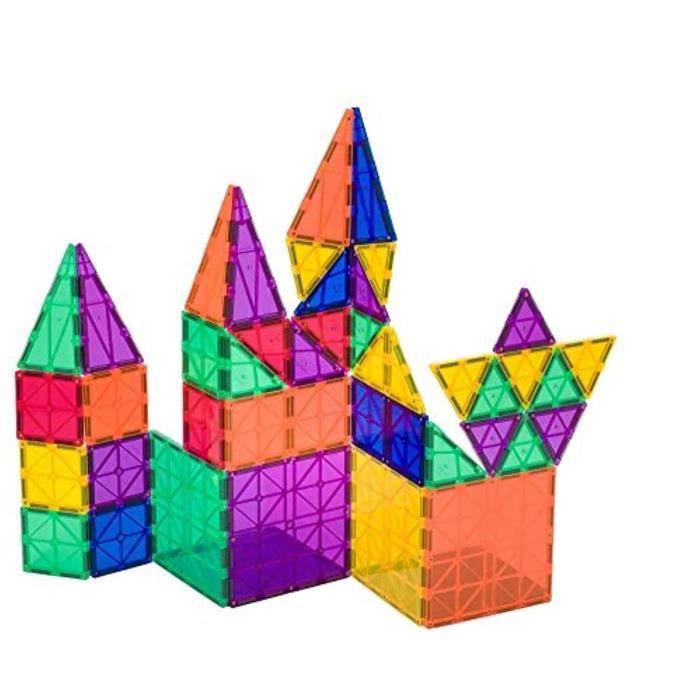 Jeu D'Assemblage QZ68I Ensemble de construction de tuiles magnétiques de couleurs claires primées 5 + 6 pièces avec des jouets magné