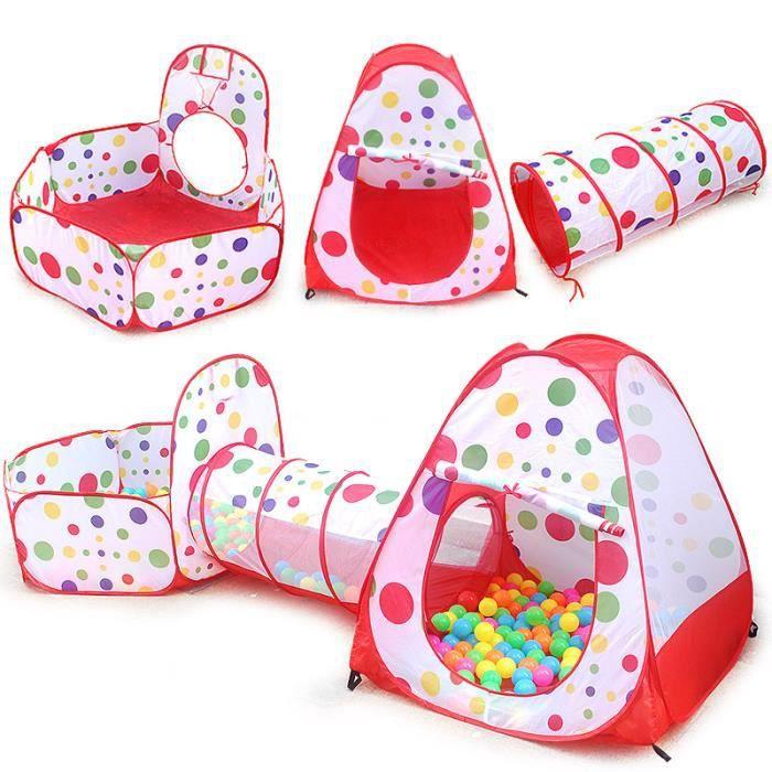 Tente tunnel d'activité Tente enfant à balles (pas inclus les balles)