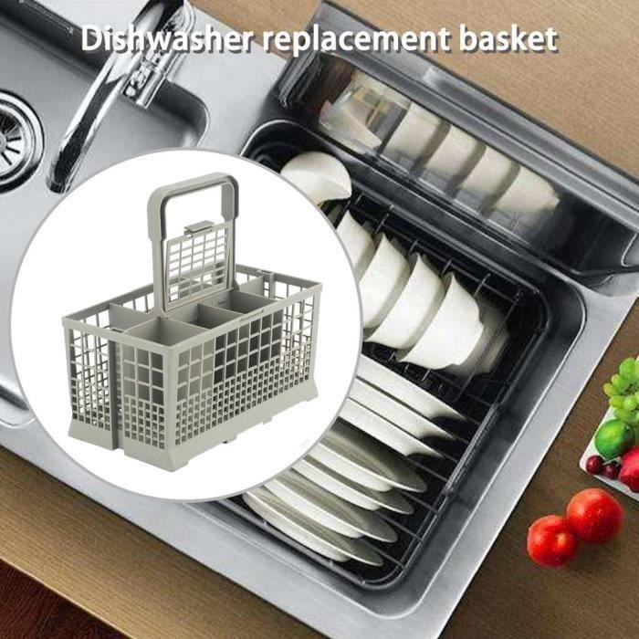 SS Partie polyvalente universelle lave-vaisselle Boîte rangement panier remplacement couverts Accessoire
