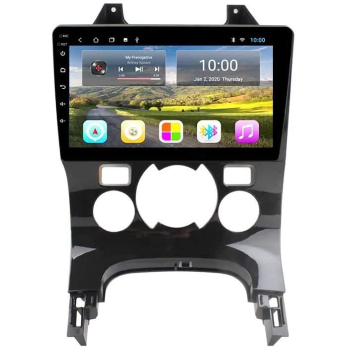 Nav Radio 9 Pouces écran Tactile stéréo Voiture Autoradio Autoradio - Applicable pour Peugeot 3008 2009-2012, Bluetooth Androi[258]
