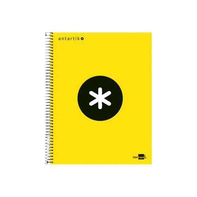 Liderpapel Antartik KD27 Cahier reliure à spirale A4 120 feuilles - 240 pages papier blanc petits carreaux 4 trous couvercle…