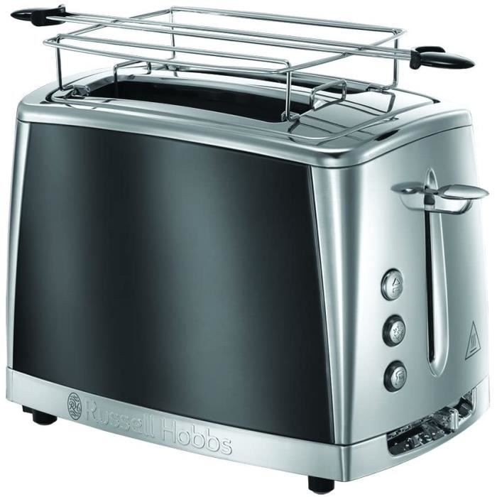 MACHINE A PAIN Russell Hobbs Toaster GrillePain Cuisson Rapide Controcircle Brunissage Chauffe Viennoiserie Gris 2322156 Luna105
