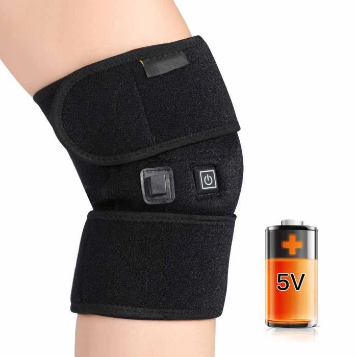 VBESTLIFE Genouillère chauffante Genouillère avec câble USB pour arthrite Genouillère