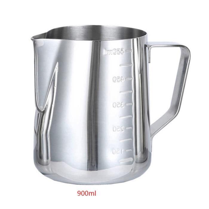 Moule,350-600-900ml acier inoxydable lait mousseur cruche expresso pichet Barista artisanat café Latte mousseur tasse - Type Clair