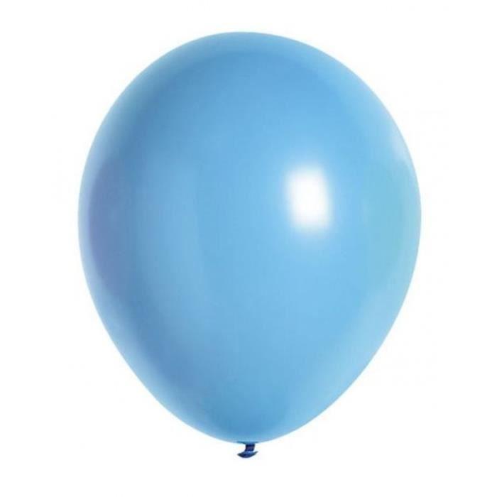 Lot de 10 ballons de baudruche en latex opaque bleu pâle