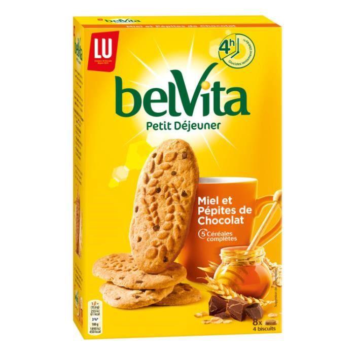 BELVITA Biscuits aux miel & pépites de chocolat - 435 g