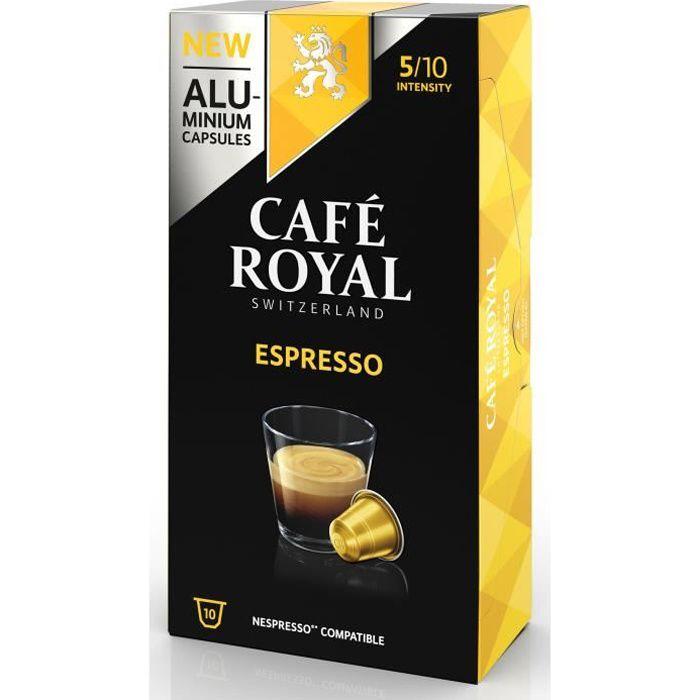 CAFE ROYAL compatible Nespresso Alu Espresso x10