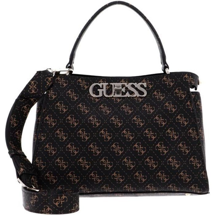 GUESS Uptown Chic Turnlock Satchel Brown [115651]