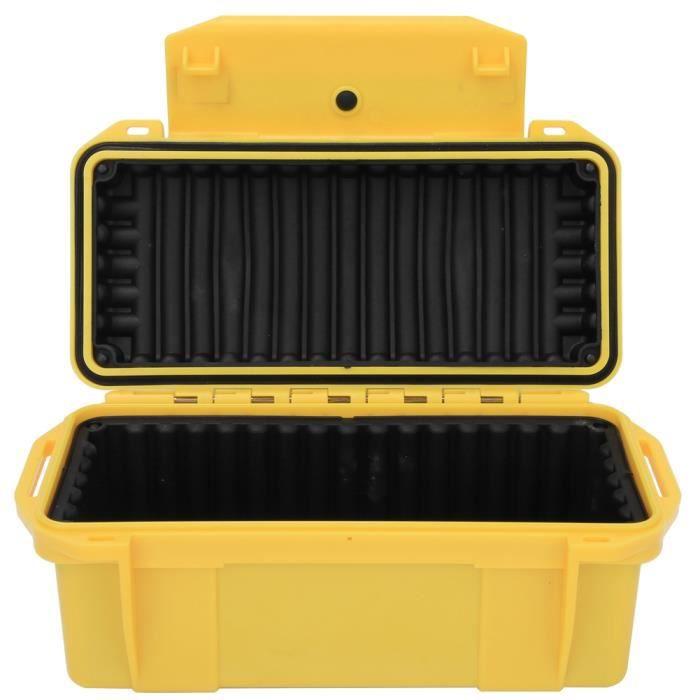 L'ABS renforce le boîtier de rangement de boîte à outils étanche antichoc extérieur jaune en plastique dur avec coussin tampon -CET