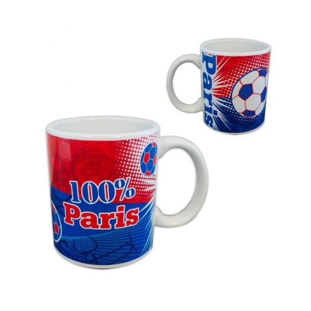 Mug 100% Paris - Supporter Football Tasse Cadeau Anniversaire - 371