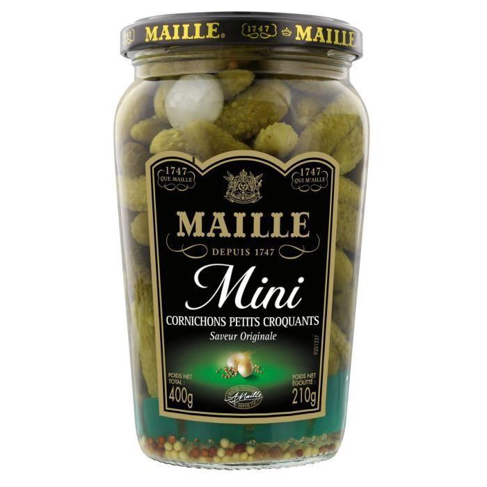 MAILLE L'Original Cornichons Mini Croquants Bocal - 210 g