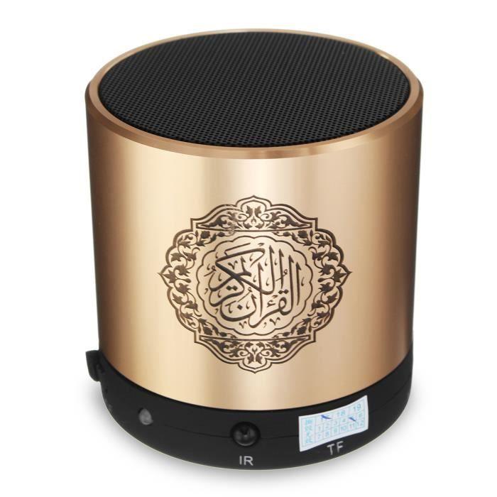AVANC Enceinte Coran Traduction Réciteur MP3 Azan Muslim 8GB TF Or