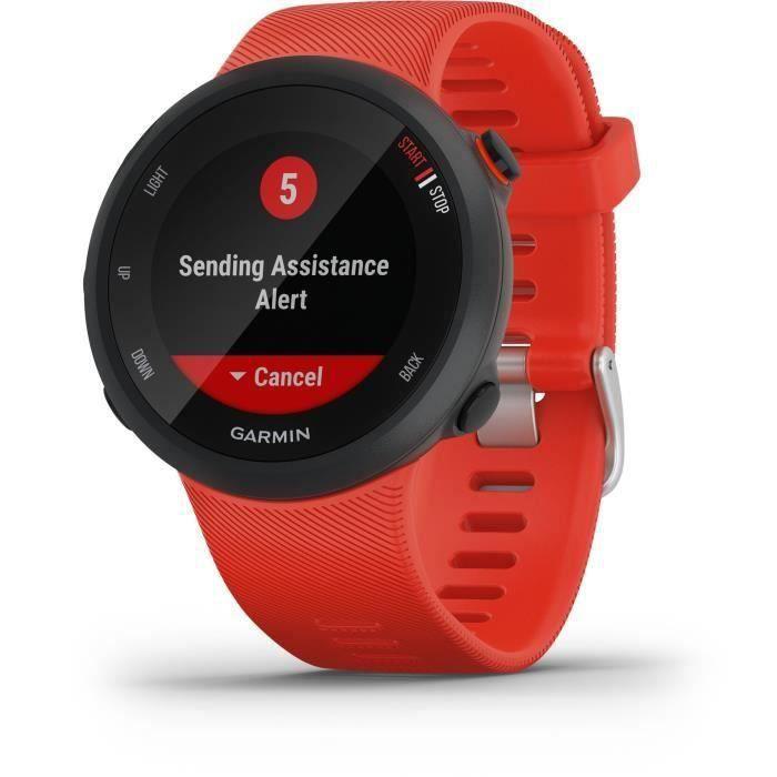 Garmin Forerunner® 45 - Montre de course GPS connectée - Large - Rouge