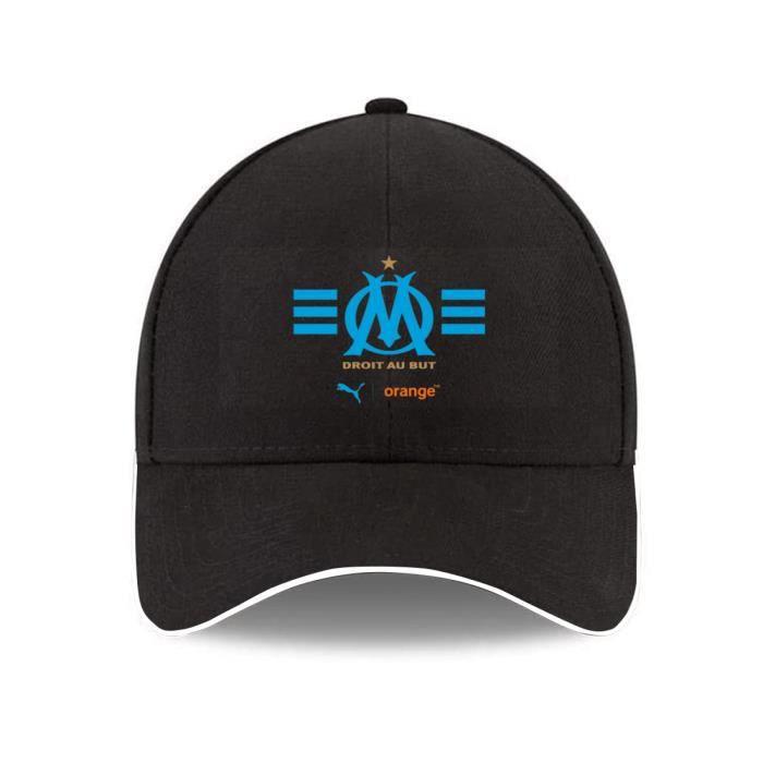 Casquette de Baseball Homme Femme Olympique de Marseille logo, Respirant Réglable Casquette Visière Anti-UV Chapeau de Soleil