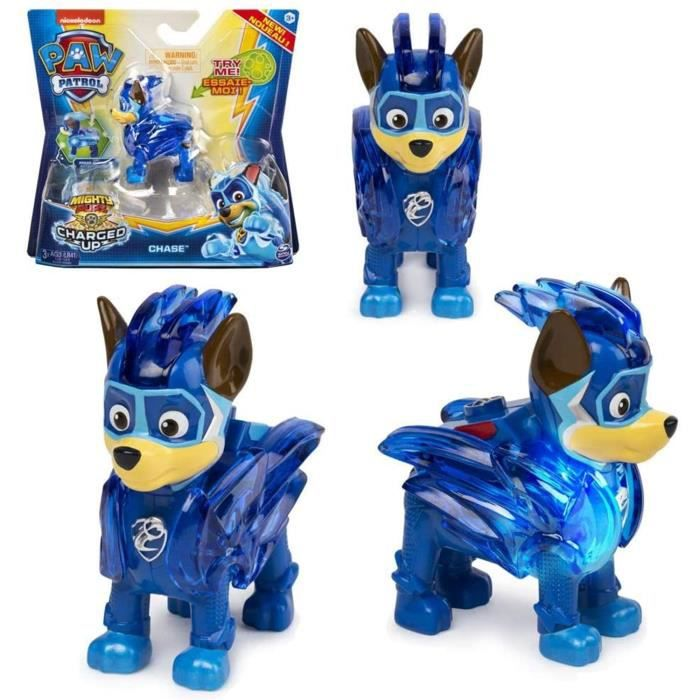 Figurine Paw Patrol Mighty Pups Deluxe avec Lumière Chase