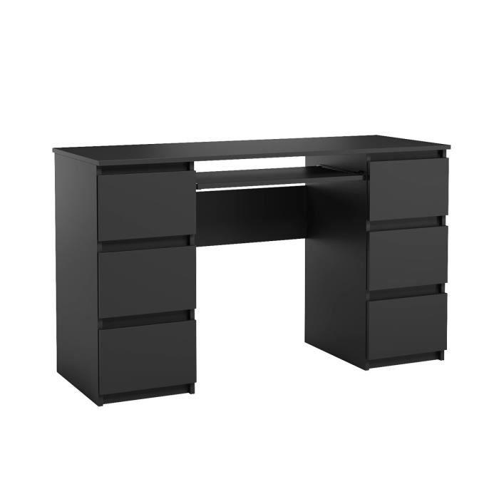 Buro d'ordinateur. Bureau très élégant avec des tiroirs. Bureau informatique JARIS noir