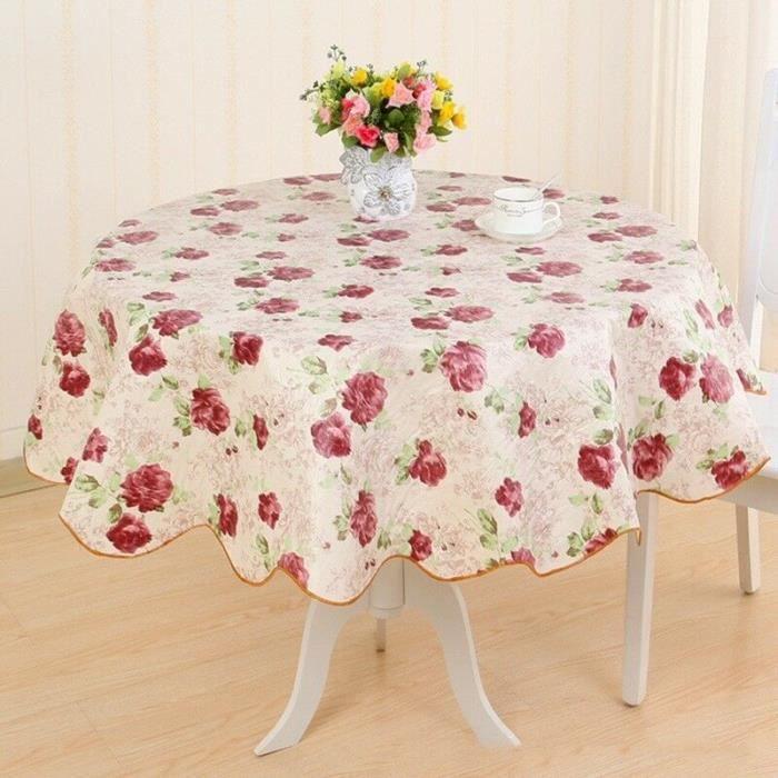 Blanc En Relief carrés PVC Nappe Vinyle Toile Cirée Cuisine Table de salle à manger