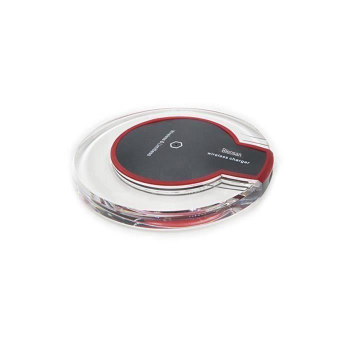 CHARGEUR TÉLÉPHONE BLEOSAN Chargeur Qi Sans Fil Micro USB Noir, Charg