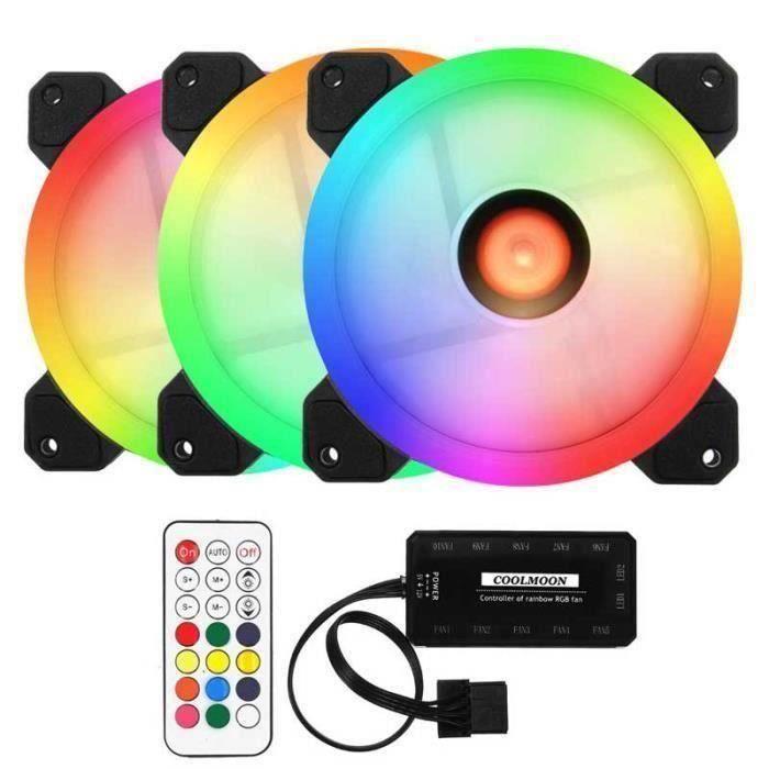 VENTILATION  3PCS 120mm LED Ventilateur Ordinateur RGB Refroidi