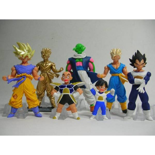 dragon ball z pack 7 figurines collection 1 achat vente figurine personnage soldes. Black Bedroom Furniture Sets. Home Design Ideas