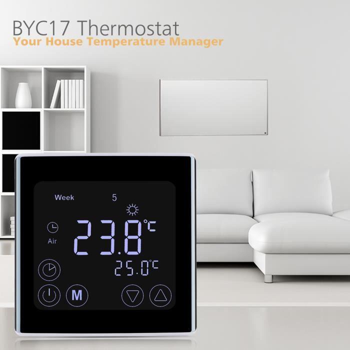 FLOUREON Smart Home Thermostat Programmable écran Tactile Contrôleur de Température