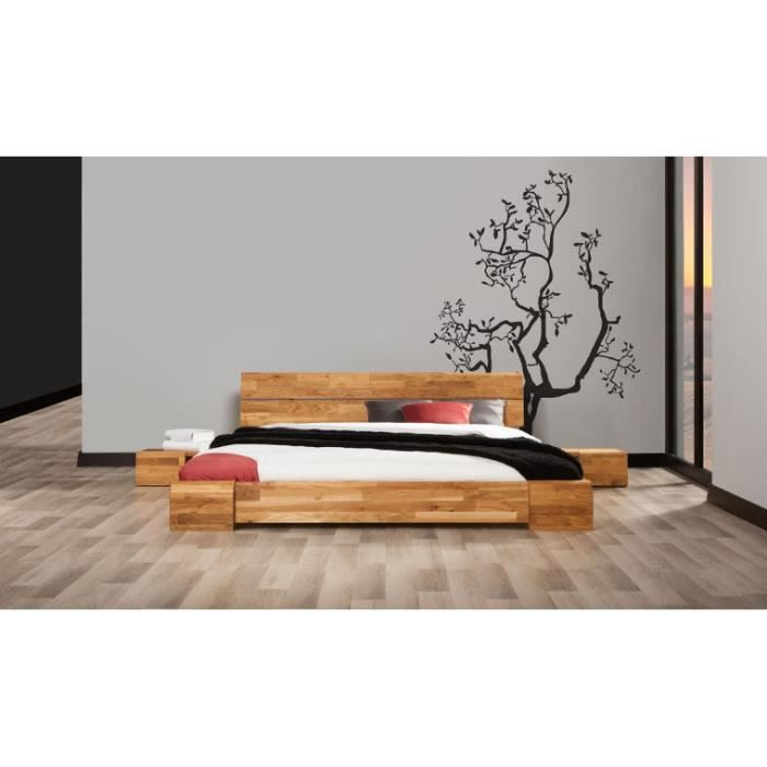 lit design en chene massif tokyo bas 180x200 achat. Black Bedroom Furniture Sets. Home Design Ideas