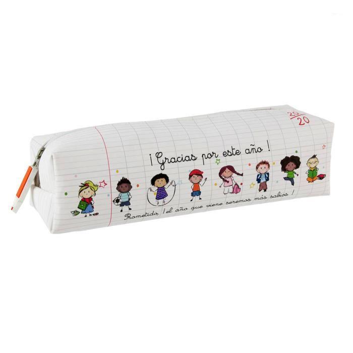 - Trousse Merci ma maitresse d/école est extraordinaire blanc multicolore 20x6.5x6.5 cm Les Tr/ésors De Lily P9221